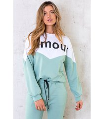 comfy sweater amour mint