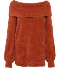 maglione con spalle scoperte (marrone) - bodyflirt