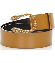 gucci dionysus leather belt brown, gold sz: