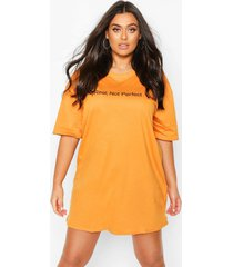 plus 'real not perfect' t-shirt dress, apricot
