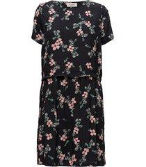 tassel print dress kort klänning svart modström