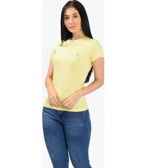 camiseta básica amarilla para mujer