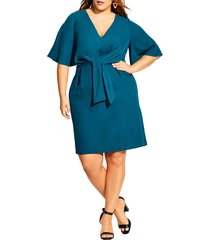 plus size women's city chic knot front dress