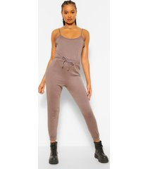 2-in-1 hemd en joggingbroek jumpsuit, houtskool