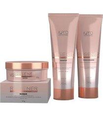 kit 1 shampoo regenér k.a.p complex 240ml + 1 condicionador 240g + 1 másca