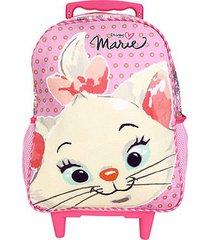 mochila infantil escolar xeryus marie cuteness com rodinhas