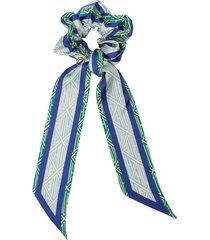 chloé ribbon-detail scrunchie hair tie - blue