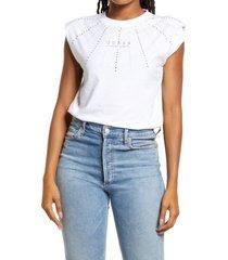women's guess geliana logo graphic bodysuit, size large - white