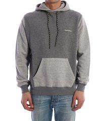 golden goose cotton hoodie gray