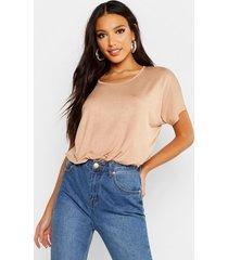 basic oversized t-shirt, camel