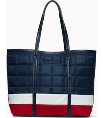 tommy hilfiger women's tommy quilted flag tote navy/red/white -