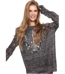 sweater plateado laila madison