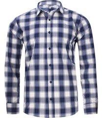 camisa a cuadros con borde color blanco, talla xs