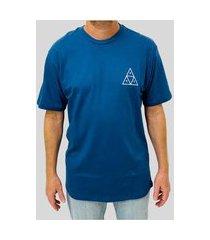 camiseta huf silk lupus noctem azul marinho