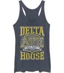 fifth sun animal house toga party at the delta house tri-blend racer back tank