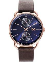 reloj marrón mark maddox hombre