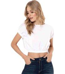 camisa cropped popelin blanco ragged pf11112183