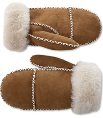 double-faced sheepskin mittens, xs/s