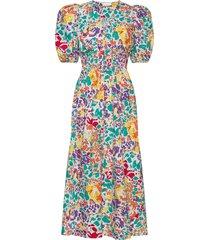 linh puff dress maxi dress galajurk multi/patroon storm & marie
