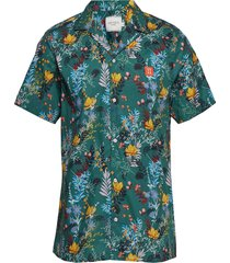 boozt ss shirt kortärmad skjorta multi/mönstrad les deux