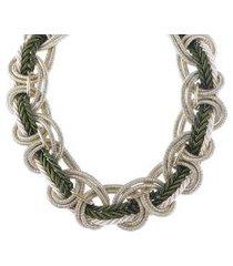 maxi colar armazem rr bijoux cordáo verde