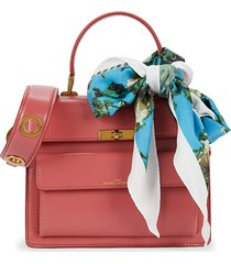 marc jacobs women's the uptown leather satchel - santa fe red