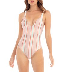 women's tavik claire one-piece swimsuit, size medium - ivory