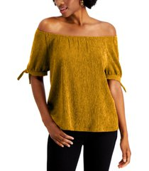 style & co petite convertible tie-sleeve top, created for macy's