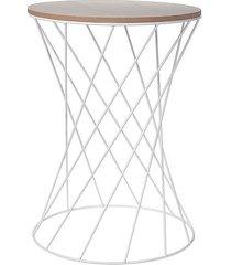 stolik kawowy biały 49 cm