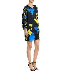 florence camo print silk dress