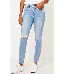 loft petite skinny jeans in vivid light indigo wash