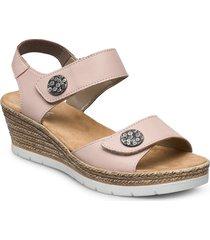 619b9-00 sandalette med klack espadrilles rosa rieker