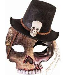 buyseasons men's voodoo skull mask with hat