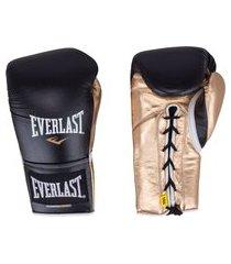 luvas de boxe everlast powerlock com amarração - 16 oz - adulto