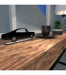 escultura de mesa opala carro antigo preto único