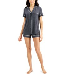 alfani super soft modal top & shorts pajama set, created for macy's