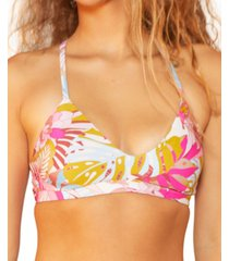 hurley juniors' palm paradise adjustable bralette bikini top women's swimsuit