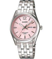 ltp-1335d-5av reloj dama doble calendario rosado