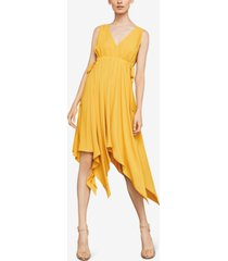 bcbgmaxazria asymmetrical drawstring dress