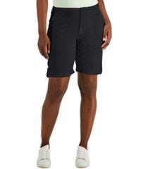 karen scott rolled cuff bermuda shorts, created for macy's