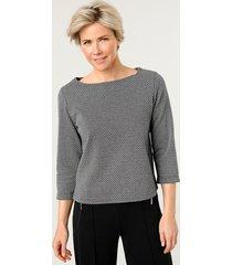 sweatshirt mona zwart::wit