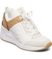 georgie trainer låga sneakers vit michael kors shoes