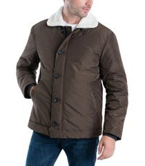 lucky brand men's spring hipster jacket with sherpa collar