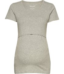 classic short-sleeved top t-shirts & tops short-sleeved grå boob
