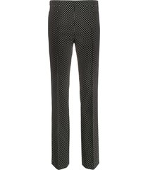 akris punto micro-pattern trousers - black