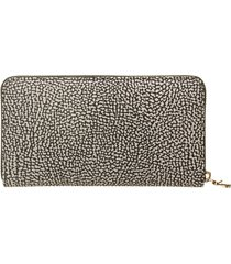 borbonese borbonese zip around wallet