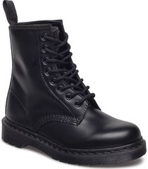 1460 mono black smooth shoes boots ankle boots ankle boot - flat blå dr. martens