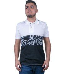 camiseta tipo polo-blanca-puntazul-41444