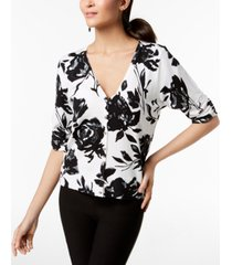 inc ruched elbow-sleeve cardigan, created for macy's