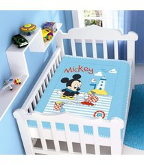 cobertor infantil jolitex raschel mickey barquinho azul - azul - dafiti